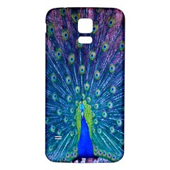 Amazing Peacock Samsung Galaxy S5 Back Case (white) by Simbadda