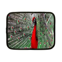 Red Peacock Netbook Case (small)  by Simbadda