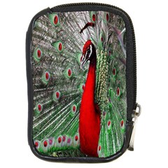 Red Peacock Compact Camera Cases by Simbadda