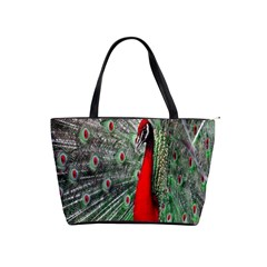 Red Peacock Shoulder Handbags by Simbadda