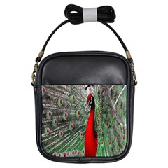 Red Peacock Girls Sling Bags by Simbadda