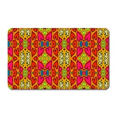 Abstract Background Design With Doodle Hearts Magnet (rectangular) by Simbadda