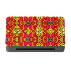 Abstract Background Design With Doodle Hearts Memory Card Reader With Cf by Simbadda