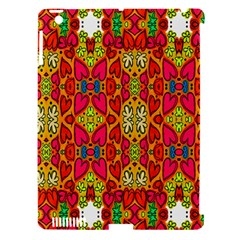 Abstract Background Design With Doodle Hearts Apple Ipad 3/4 Hardshell Case (compatible With Smart Cover) by Simbadda