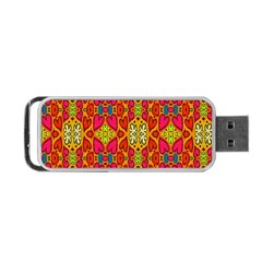 Abstract Background Design With Doodle Hearts Portable Usb Flash (two Sides) by Simbadda