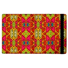Abstract Background Design With Doodle Hearts Apple Ipad 3/4 Flip Case by Simbadda