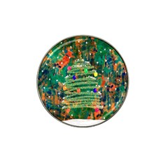 Watercolour Christmas Tree Painting Hat Clip Ball Marker (4 Pack) by Simbadda