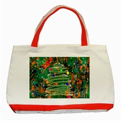 Watercolour Christmas Tree Painting Classic Tote Bag (red) by Simbadda