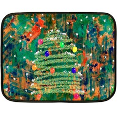 Watercolour Christmas Tree Painting Fleece Blanket (mini) by Simbadda