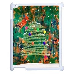 Watercolour Christmas Tree Painting Apple Ipad 2 Case (white) by Simbadda