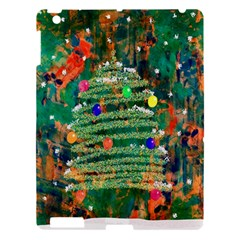 Watercolour Christmas Tree Painting Apple Ipad 3/4 Hardshell Case by Simbadda