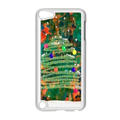 Watercolour Christmas Tree Painting Apple Ipod Touch 5 Case (white) by Simbadda