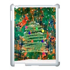 Watercolour Christmas Tree Painting Apple Ipad 3/4 Case (white) by Simbadda