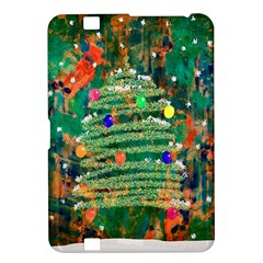 Watercolour Christmas Tree Painting Kindle Fire Hd 8 9  by Simbadda