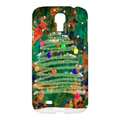 Watercolour Christmas Tree Painting Samsung Galaxy S4 I9500/i9505 Hardshell Case by Simbadda