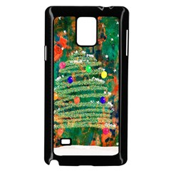 Watercolour Christmas Tree Painting Samsung Galaxy Note 4 Case (black) by Simbadda