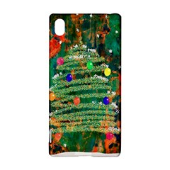 Watercolour Christmas Tree Painting Sony Xperia Z3+ by Simbadda