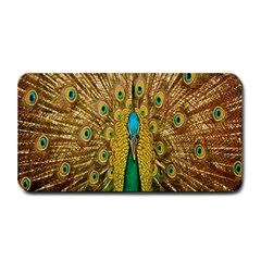 Peacock Bird Feathers Medium Bar Mats by Simbadda
