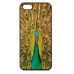 Peacock Bird Feathers Apple Iphone 5 Seamless Case (black) by Simbadda