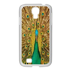 Peacock Bird Feathers Samsung Galaxy S4 I9500/ I9505 Case (white) by Simbadda