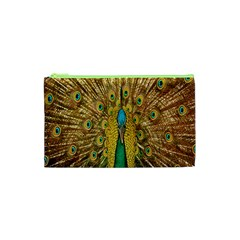 Peacock Bird Feathers Cosmetic Bag (xs)