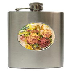 Victorian Background Hip Flask (6 Oz) by Simbadda