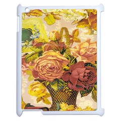 Victorian Background Apple Ipad 2 Case (white) by Simbadda