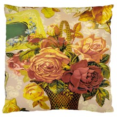 Victorian Background Large Cushion Case (two Sides) by Simbadda