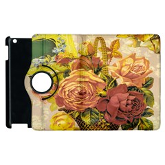 Victorian Background Apple Ipad 3/4 Flip 360 Case by Simbadda