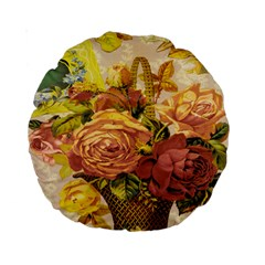 Victorian Background Standard 15  Premium Round Cushions by Simbadda