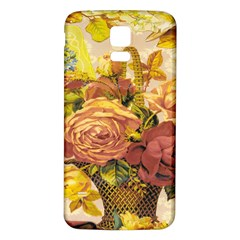Victorian Background Samsung Galaxy S5 Back Case (white) by Simbadda