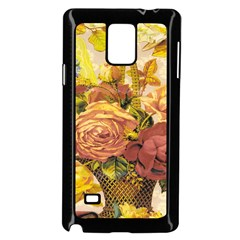 Victorian Background Samsung Galaxy Note 4 Case (black) by Simbadda