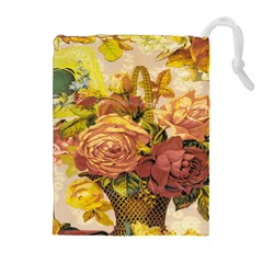 Victorian Background Drawstring Pouches (extra Large) by Simbadda