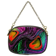 Peacock Feather Rainbow Chain Purses (two Sides)  by Simbadda