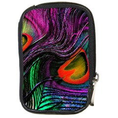 Peacock Feather Rainbow Compact Camera Cases by Simbadda