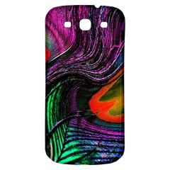 Peacock Feather Rainbow Samsung Galaxy S3 S Iii Classic Hardshell Back Case by Simbadda