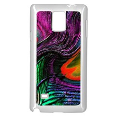 Peacock Feather Rainbow Samsung Galaxy Note 4 Case (white) by Simbadda