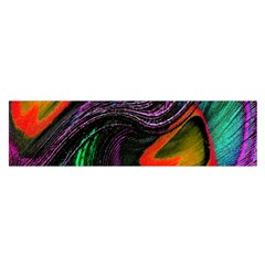 Peacock Feather Rainbow Satin Scarf (oblong) by Simbadda