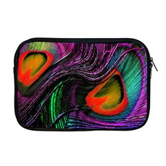 Peacock Feather Rainbow Apple Macbook Pro 17  Zipper Case by Simbadda
