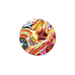 Colourful Abstract Background Design Golf Ball Marker by Simbadda