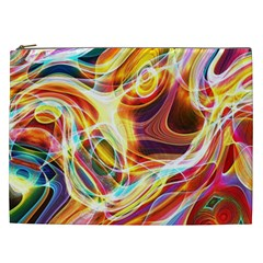 Colourful Abstract Background Design Cosmetic Bag (xxl)  by Simbadda