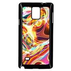 Colourful Abstract Background Design Samsung Galaxy Note 4 Case (black)