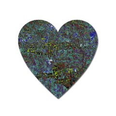 Stone Paints Texture Pattern Heart Magnet by Simbadda