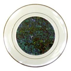 Stone Paints Texture Pattern Porcelain Plates by Simbadda