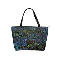 Stone Paints Texture Pattern Shoulder Handbags by Simbadda