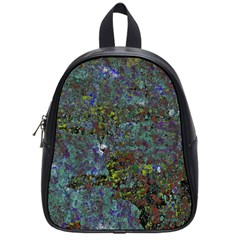 Stone Paints Texture Pattern School Bags (small)  by Simbadda