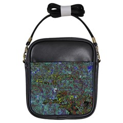Stone Paints Texture Pattern Girls Sling Bags by Simbadda