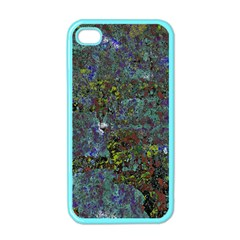 Stone Paints Texture Pattern Apple Iphone 4 Case (color) by Simbadda