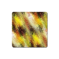 Multi Colored Seamless Abstract Background Square Magnet by Simbadda