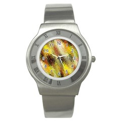 Multi Colored Seamless Abstract Background Stainless Steel Watch by Simbadda
